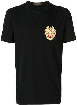 Roberto Cavalli embellished patch T-shirt