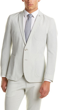 Nick Graham Seersucker Modern Fit Suit With Flat Front Pant