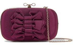 RED Valentino Bow-Embellished Satin-Faille Clutch