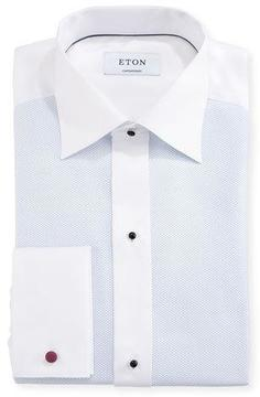 Eton Contemporary-Fit Fancy Formal Shirt, White/Light Blue
