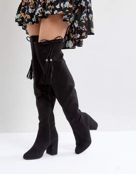 New Look Tassel Over The Knee Boot