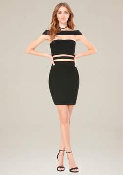 Bebe Off Shoulder Cutout Dress