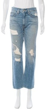 Brock Collection Distressed High-Rise Jeans