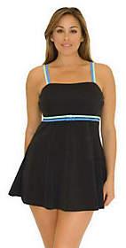 Fit 4 U Thighs Color-Block Bandeau Swim Dress