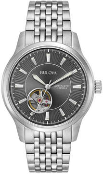 Bulova Men's Automatic Stainless Steel Bracelet Watch 40mm 96A190, A Macy's Exclusive Style
