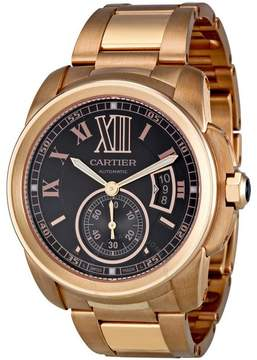 Cartier Calibre de Brown Dial 18kt Rose Gold Men's Watch