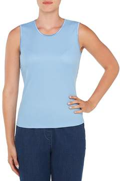 Allison Daley Petites Crew-Neck Rib Solid Shell