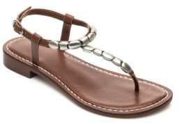 Bernardo Tristan Leather Silver Bead Sandals