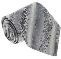 Missoni U1338 Silver/gray Herringbone 100% Silk Tie.
