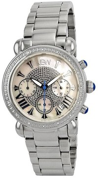 JBW Victory Chronograph Mother of Pearl Dial Diamond Stainless Steel Ladies Watch