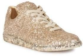 Maison Margiela Gold Glitter Sneakers