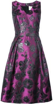 Carolina Herrera embroidered flared dress
