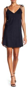 David Lerner Micro Suede Slip Dress