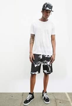 21men 21 MEN LEEF PARIS Paint Splatter Print Shorts