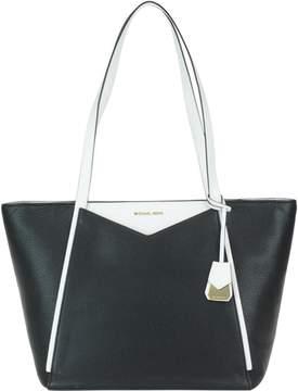 Michael Kors Large Whitney Bag - BLACK WHITE - STYLE