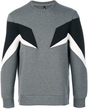 Neil Barrett contrast panel sweatshirt