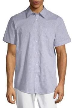 Ben Sherman Printed Short-Sleeve Cotton Button-Down Shirt