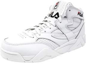 Fila Men's M Squad White / Black Mid-Top Leather Basketball Shoe - 8M