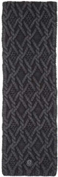 Moncler Black Cable Knit Scarf