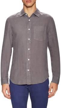 Jack Spade Men's Ferry Garment Dyed Trapunto Linen Sportshirt