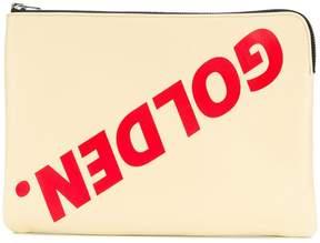 Golden Goose logo print pouch