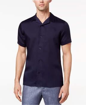 Ryan Seacrest Distinction Men's Slim-Fit Navy Knit Sport Shirt, Created for Macy's