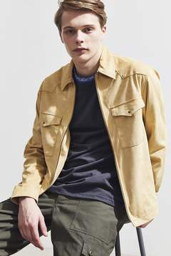 Urban Outfitters Faux Suede Zip Shirt