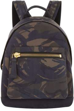 Tom Ford Buckley Suede Camouflage Print Backpack