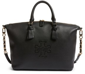 Tory Burch Harper Slouchy Leather Satchel - Black