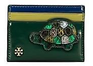 Tory Burch Turtle Burch Card Case - MALACHITE - STYLE