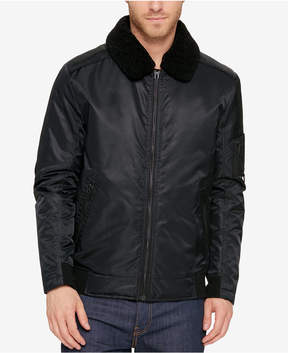 Kenneth Cole Men's A1 Bomber Jacket With Removable Collar