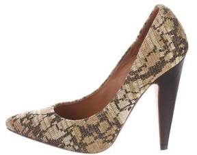 M Missoni Woven Metallic Pumps