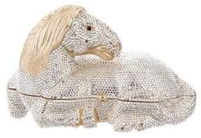 Judith Leiber Crystal Embellished Equestrian Resting Horse Minaudière