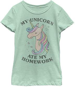 Fifth Sun Mint 'Unicorn Ate My Homework' Tee - Girls