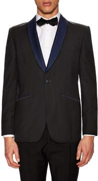 Hardy Amies Men's Embroidered Shawl Collar Tuxedo Jacket