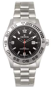 Croton Men's Stainless Steel Black Dial Sport Watch