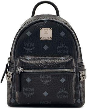 MCM Stark Bebe Boo Backpack In Side Studded Visetos