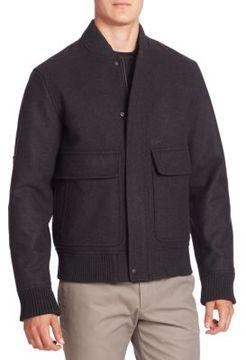 Lacoste Wool-Blend Bomber Jacket
