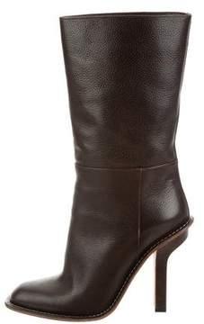 Marni Leather Square-Toe Boots