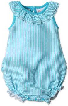 Zutano Pool Candy Stripe Ruffle Bubble Bodysuit - Infant