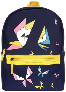 Fendi Butterflies Print Neoprene Backpack