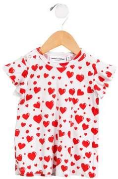 Mini Rodini Girls' Heart Printed Ruffled Dress