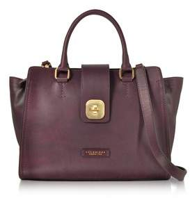The Bridge Women's Burgundy Leather Handbag.