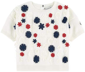 Moncler Short flower-printed sweater - Maglia