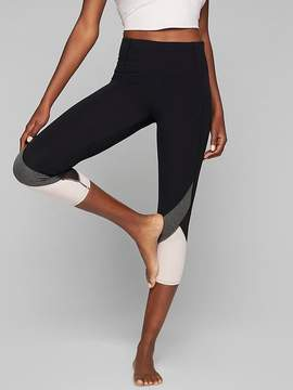 Athleta Colorblock Mesh Salutation Capri