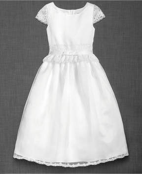 Blush by Us Angels Cap Sleeve With Lace Dress, Big Girls (7-16)