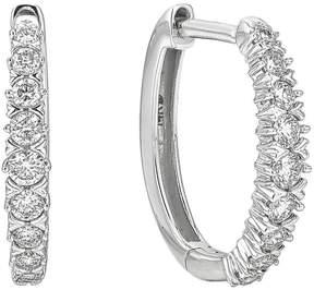Ice Diamond 1/4ct Hoop Earrings in 10k White Gold