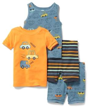Old Navy Car-Graphic 4-Piece Sleep Set for Toddler & Baby