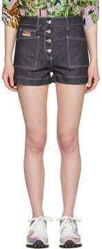 Kenzo Navy Denim Shorts