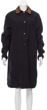 Neiman Marcus Reversible Knee-Length Coat